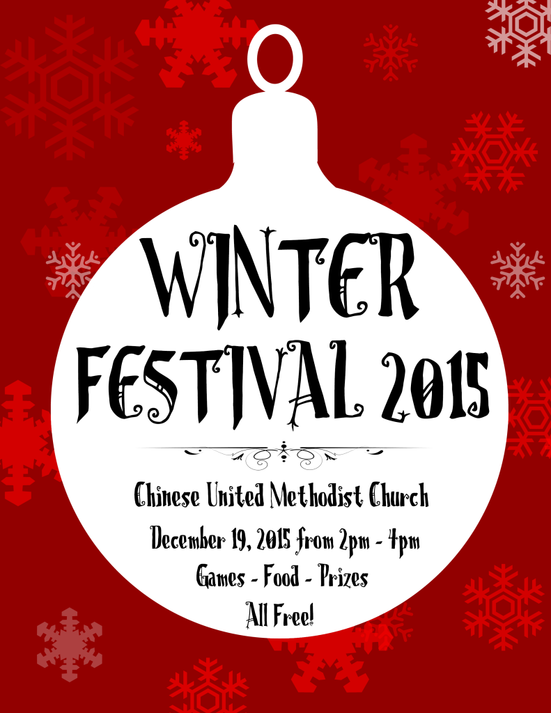 Winter Festival 2015 Poster (English)